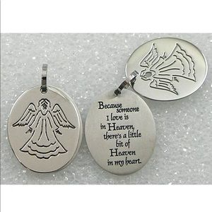 Jewelry - Remembrance Angel Bereavement Steel necklace
